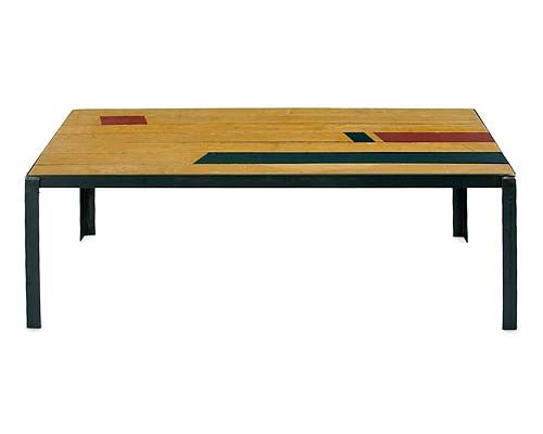perfect sports-theme basement table!Floors Boards, Coffee Tables, Reclaimed Gym, Reclaimed Floors, Gym Floors, Basements Tables, Gymnasium Floors, Floors Coffee, Floors Tables