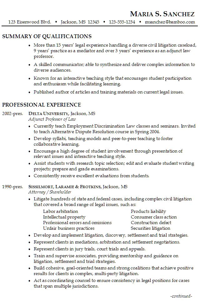 Litigation Attorney Resume Click Here To Download This Practicing