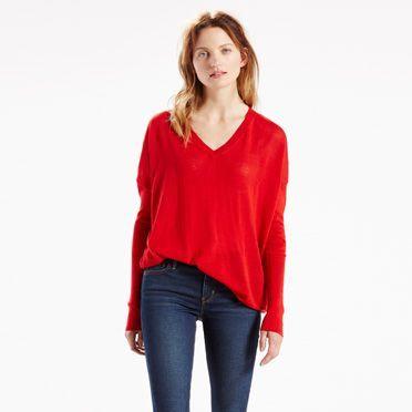 Ce pull à la forme ample et décontractée s'accompagne de manches étroites très longues. Ce modèle est réalisé en mélange de laines douces pour privilégier chaleur et légèreté. C'est une pièce idéale pour la mi-saison.
