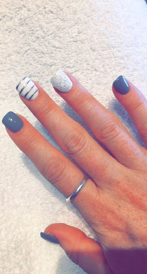 25 best ideas about short acrylics on pinterest acrylic - Easy nail designs for short nails at home ...