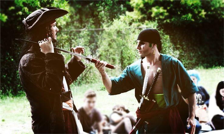 """Zoro vs Capitan Jack Sparrow - Andrea Pastore(HyTeZ Cosplay) Roronoa Zoro,  Jack Sparrow Cosplay Photo"""