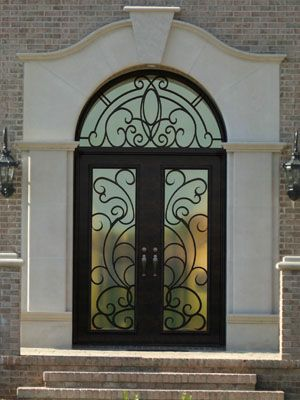 Beautiful Wood and Metal Front Doors