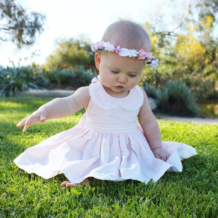 http://lillyandlace.com.au/product/custom-floral-flower-crown-kids-baby-wedding/ Baby Pink White floral head crown birthday