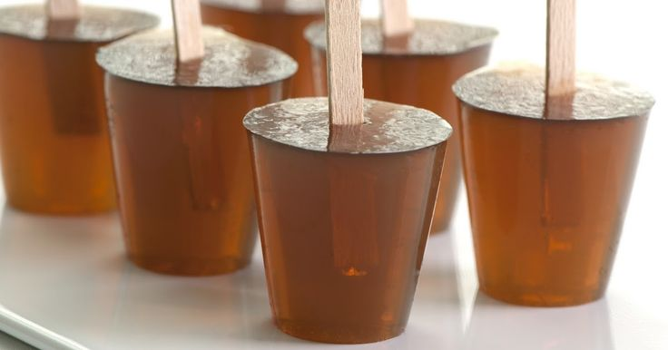 Root Beer Barrel Jelly Shots, popsicle-style with a tiny wooden handle    Hello at long last - have been out with an extended bout with ...