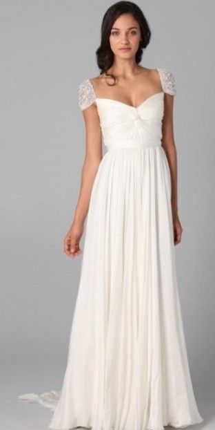 Love this, but think it would be just as great for a mountain wedding dress!  Beach Wedding Dress