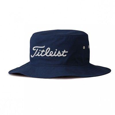 16e8d56a2bd NEW Titleist Golf SeerSucker Bucket Navy Blue Dove Small Medium Hat ...