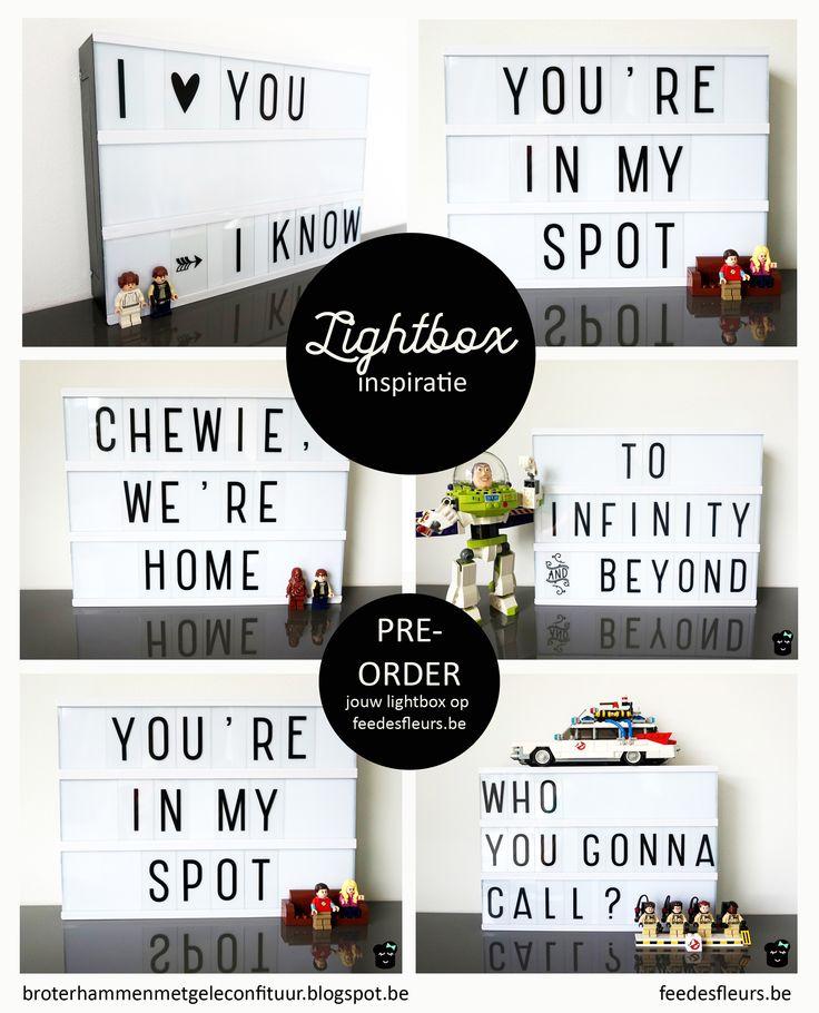 ♥ Lichtbox quotes Lightbox inspiratie op Broterhammen met Gele Confituur voor webshop www.feedesfleurs.be #feedesfleurs #broterhammenmetgeleconfituur #lightbox #lego