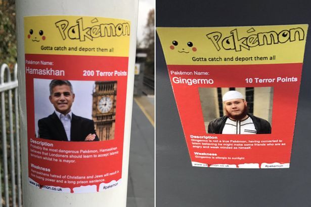 Outrage over racist 'Pakémon' stickers posted at Tube stations targeting 'dangerous' London Mayor Sadiq Khan #outrage #racist #eacute…