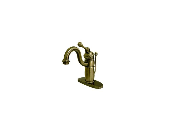 Kingston Brass KB140.BL Victorian Bathroom Faucet with Metal Lever Handle Antique Brass Faucet Lavatory Single Handle