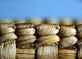 Finnish traditional basket weaving of reed. Finland |Suomen käsityön museo