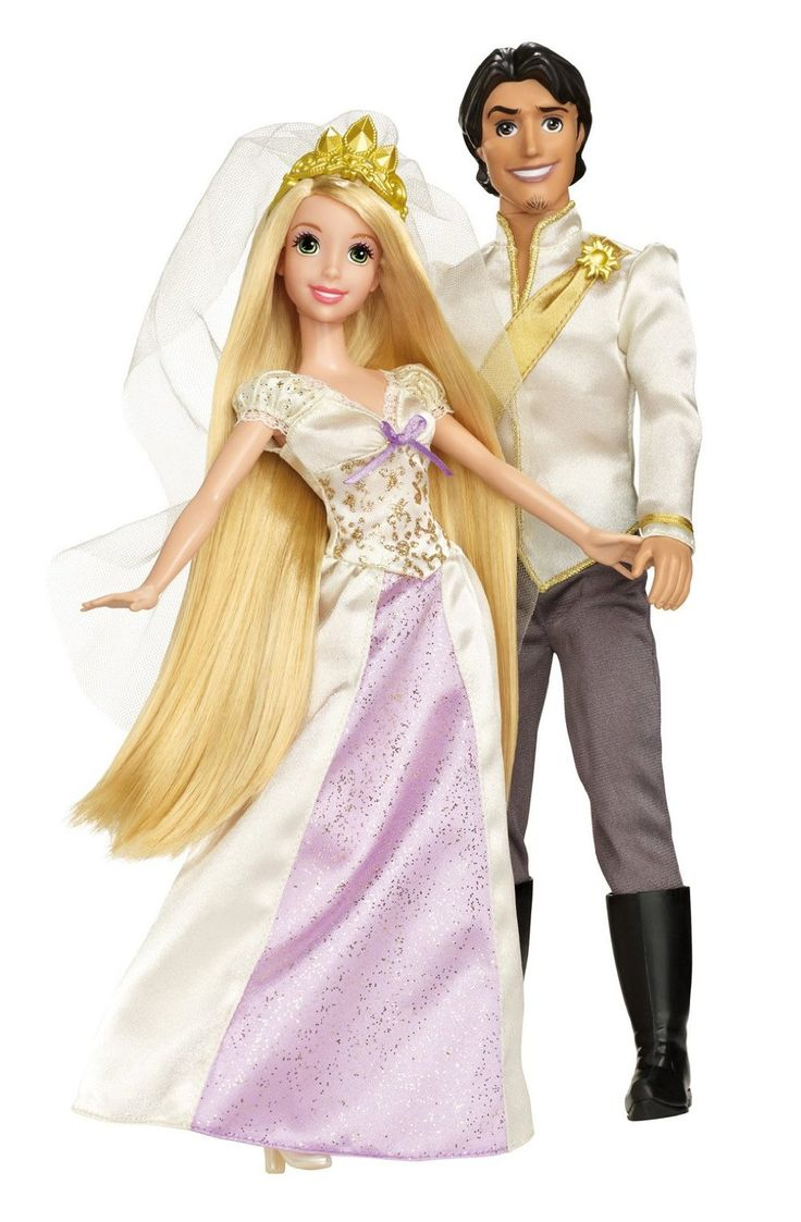 Disney Princess Rapunzel and Flynn Wedding Doll