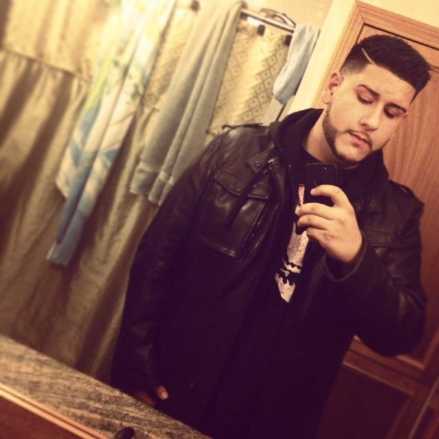 Leather Jacket + Hoodie = (O_O)!!! <3  Big and Tall Men Fashion Clothing