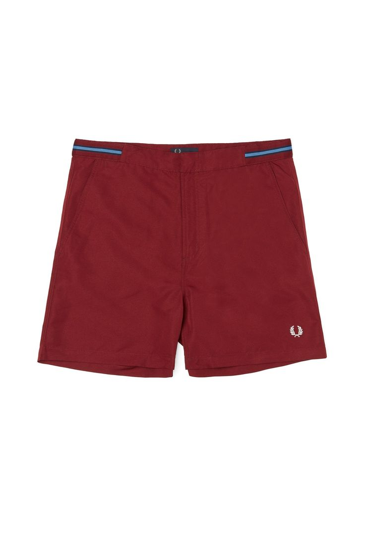 Fred Perry - Bomber Tape Swimshorts Rosewood