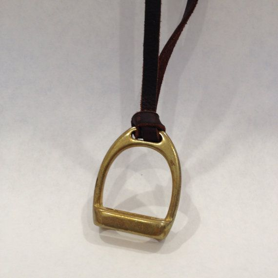 Stirrup Cup #3 Long Leather Necklace, Equestrian Horse Tack Shop Accessories