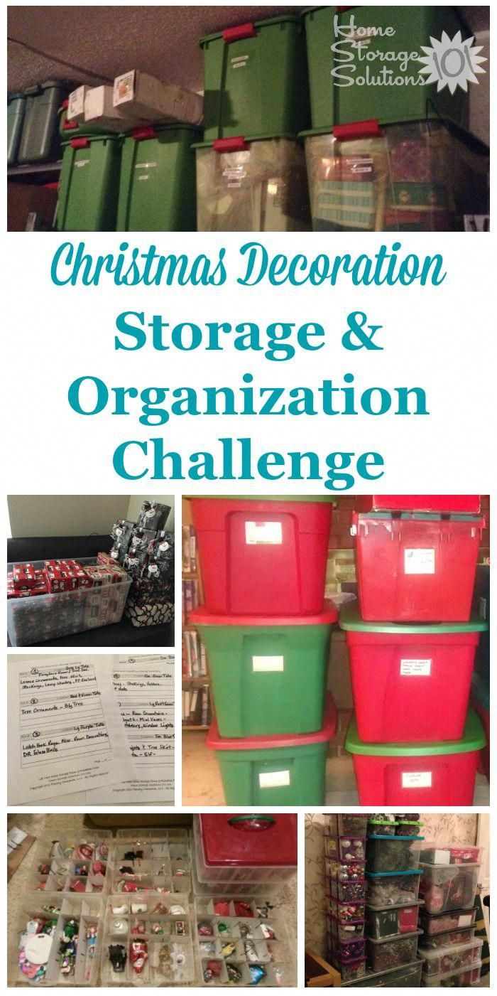 Here are step by step instructions for Christmas decoration storage and organization in your home, as well as for organizing other holiday decorations as well part of the 52 Week Organized Home Challenge on Home Storage Solutions 101