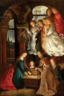 Ashmolean Advent Calendar   Day 25  The Nativity  Flemish Artist (c.1500)  Oil on panel WA1933.23