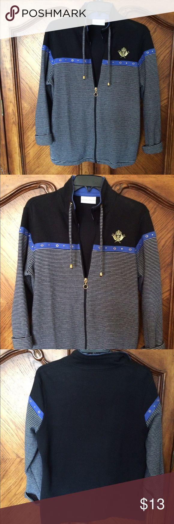 Nautical design jacket Drapers and Damon's women's medium, nautical design, zip front jacket Tops Sweatshirts & Hoodies