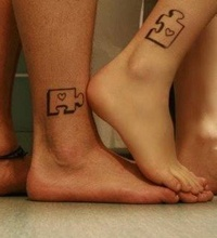 Cute. Except that you would have to do it with pieces that would actually fit together.