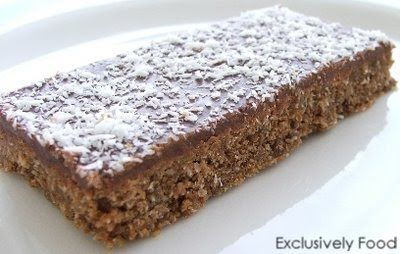 This quick and easy recipe makes a crunchy chocolate slice that is great for lunchboxes.  Makes about 18 pieces (each about 4.5cm by 6cm). ...