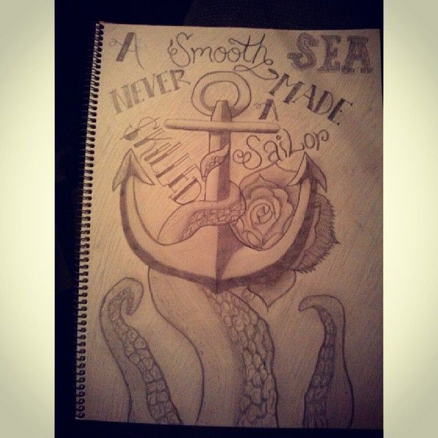 Nautical Drawing! #anchor #tattoo #quote