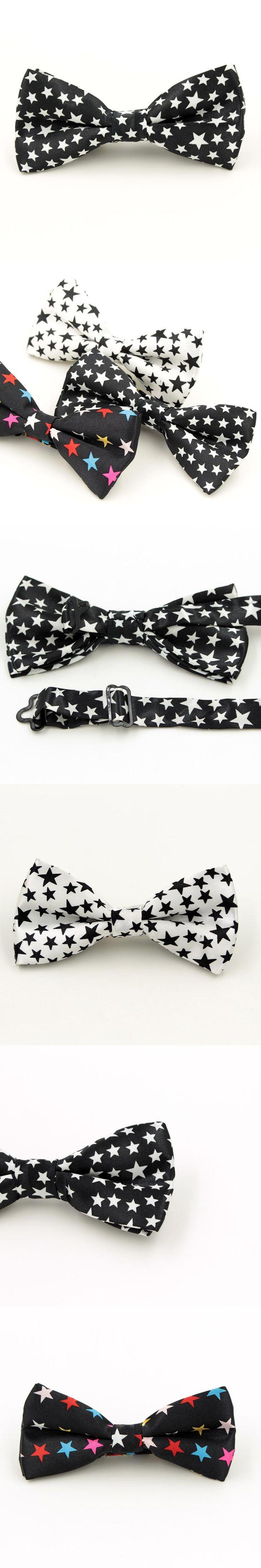 1 piece Fashion Men's Bow tie Printing Stars Bowtie Leisure Butterfly For Men Wedding Marriage Grooms Cravat tie