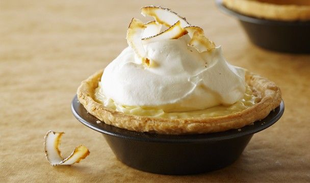 Individual Coconut Cream Pies : Bake with Anna Olson : The Home Channel