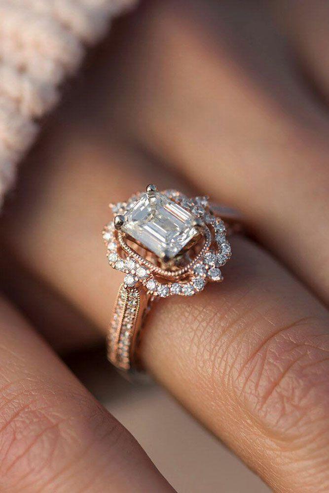 Bague de Fiançailles – Tendance 2017/2018 : 30 Implausible Engagement Rings 2018 ❤️ rings classic rose gold distinctive ❤️ …