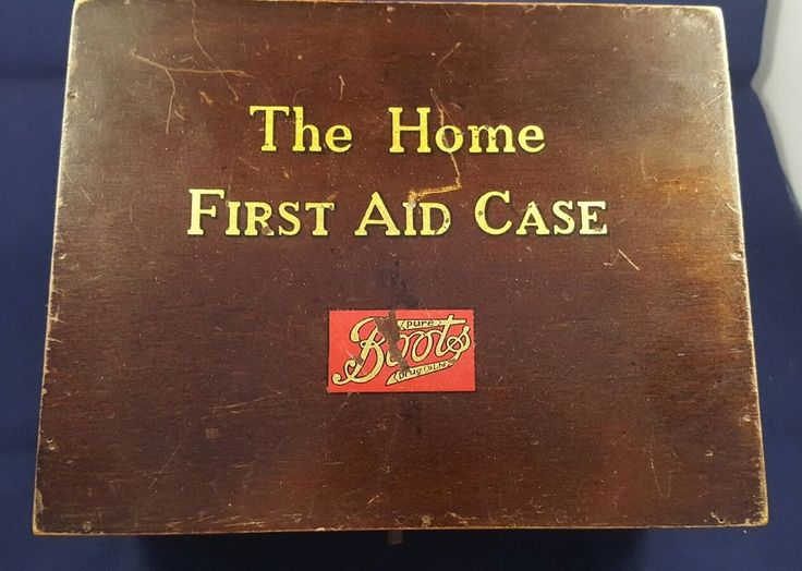 Vintage Boots Home First Aid Kit Box with Contents 1950s - 1960s