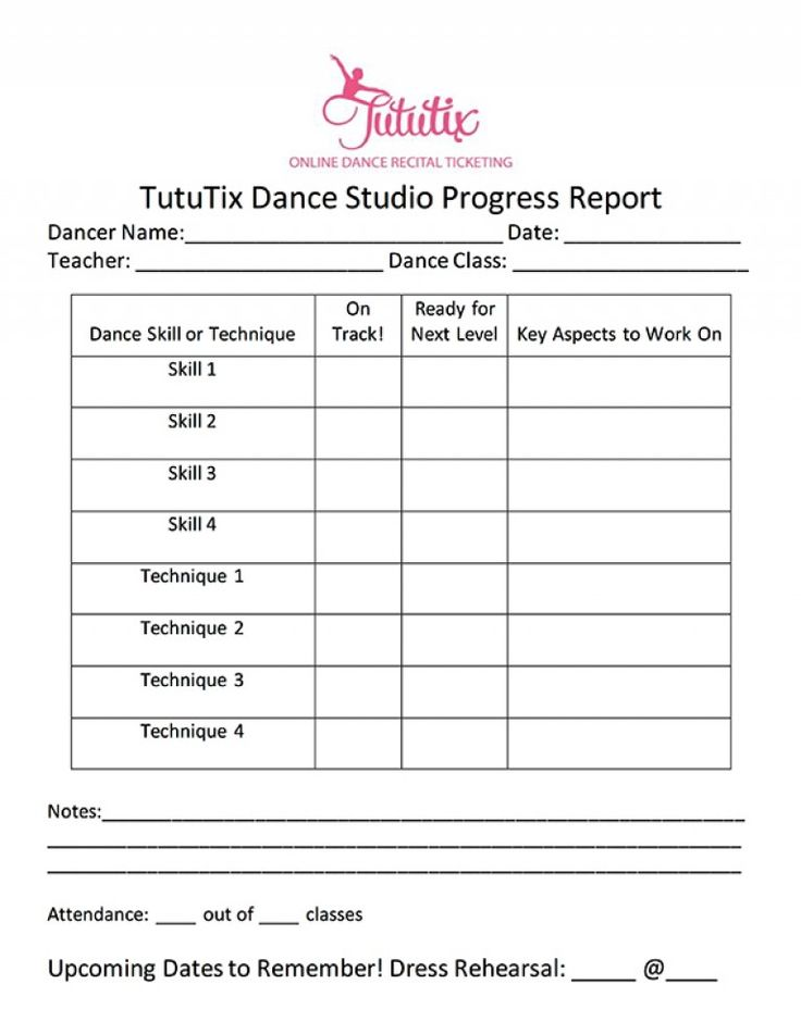 Dance Progress Report - Edited