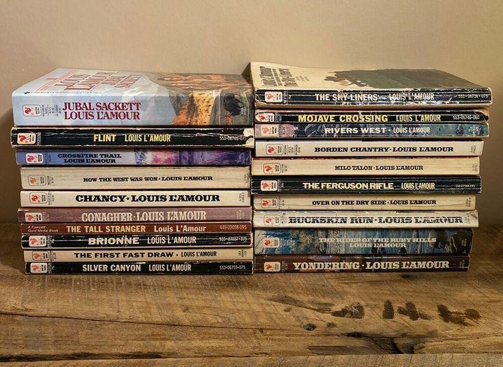 Louis lamour novel lot of 20 paperback talon chantry