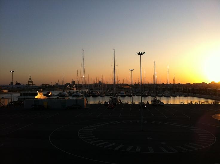 Atardecer en Valencia, tres días antes del Gran Premio de Fórmula 1. 2012