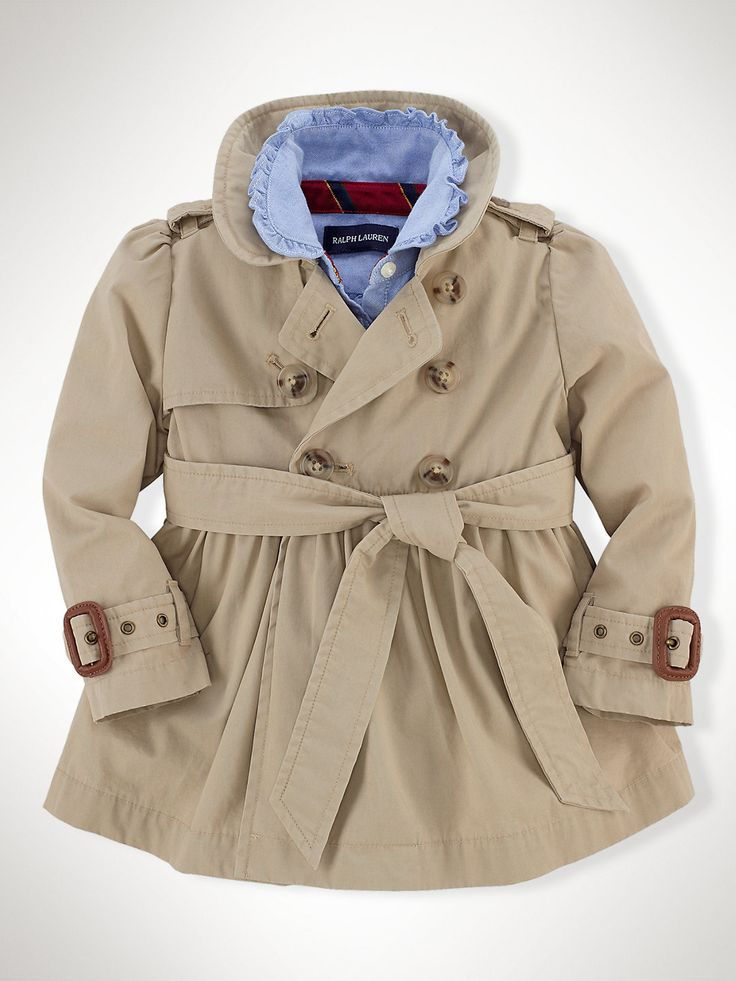 Classic Full-Skirt Trench Coat - Outerwear & Jackets   Infant Girl (9M–24M) - RalphLauren.com