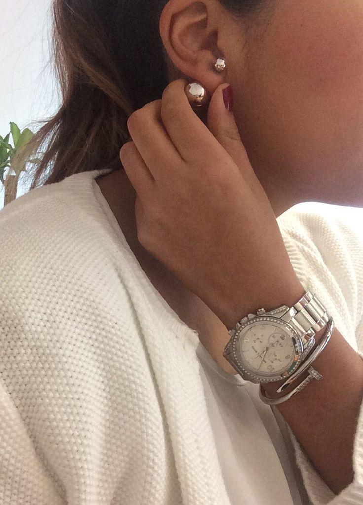 Plateado ❤️ #jewelry #earings #clock #silver