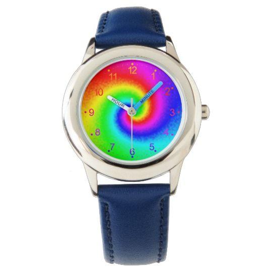 Tie-Dye Rainbow Swirl Kid's Watch