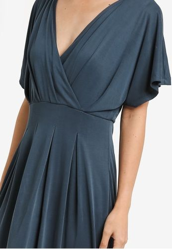 Galy Short Sleeve Maxi Dress from Selected Femme in blue_3
