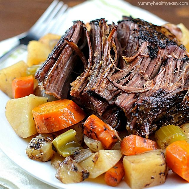 This Crock Pot Roast with Vegetables is a family favorite Sunday dinner. I love everything about this meal. It's an entire dinner in one crock pot - and the meat is SO tender and delicious! This is a must-make!