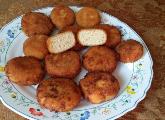 Nuggets de pollo con mozarella y curry. para #Mycook http://www.mycook.es/receta/nuggets-de-pollo-con-mozarella-y-curry