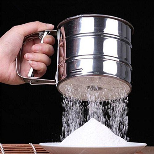 Kitchen Tool Flour Mesh Flour Bolt Sifter Manual Sugar Icing Shaker Stainless Steel Cup Shape Pastry Brushes OmenTech * Check out the image by visiting the link.