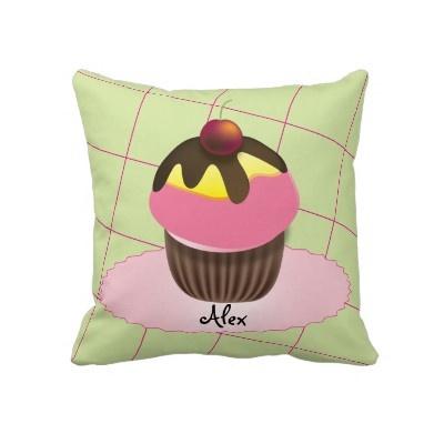 Pink Cupcake Design Cute American MoJo Pillow: Yellow Cupcakes, Cupcakes Design, Cupcake Designs, Cupcakes Colors, Pink Cupcakes, Cupcakes Rosa-Choqu