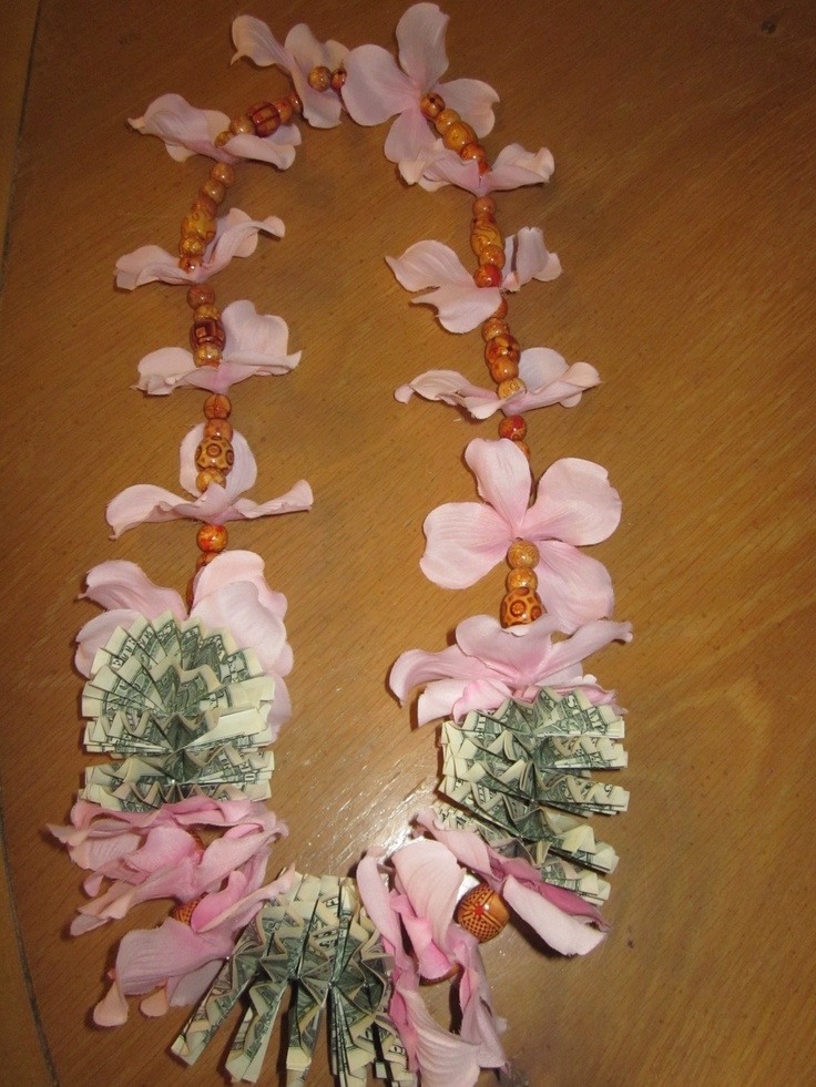 Pink dogwood silk flower and wood beads money lei: Pink Flowers, Silk Flowers, Money Lei, Wood Beads, Dogwood Silk, Pink Dogwood