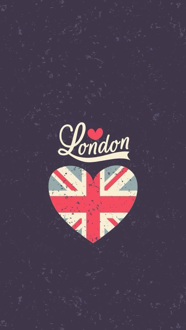 Love London Heart Flag #iPhone #5s #wallpaper