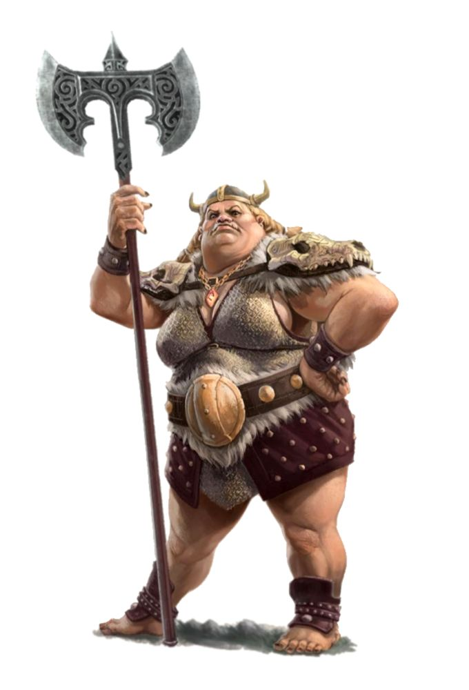 Female Hill Giant Fighter Barbarian Chieftess - Pathfinder PFRPG DND D&D 3.5 5th ed d20 fantasy