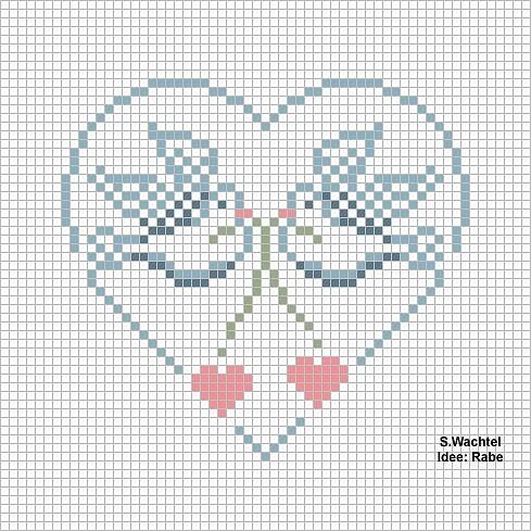 Etamin Şablonları Kalp Desenleri 56