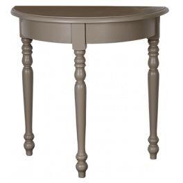 Table console demi-lune en bois massif L 90 cm à plateau chêne ''Linz''C