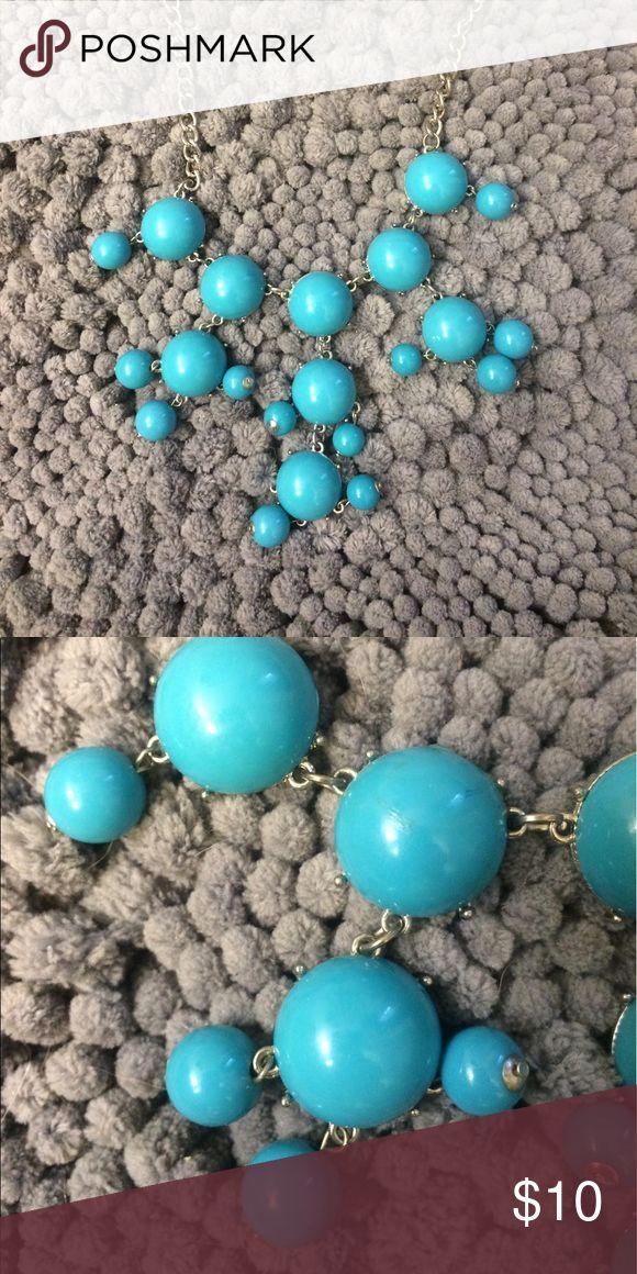 Bubble necklace Turquoise Adjustable length bubble necklace Jewelry Necklaces