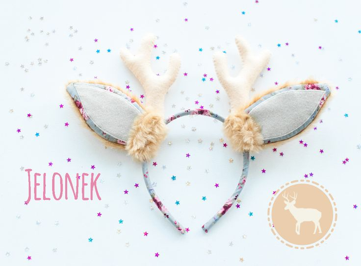 Headband with dear ears. For kids and adults. Halloween or carnivale decoration. Faux fur