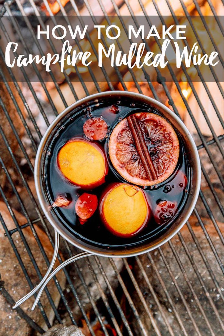 The wintery version of sangria, a camping mug full of mulled red wine is all we need to keep warm. #camping #campingfood #campingtips