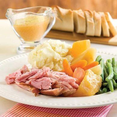 Jambon à l'érable, ananas et légumes à la mijoteuse - Recettes - Cuisine et nutrition - Pratico Pratique