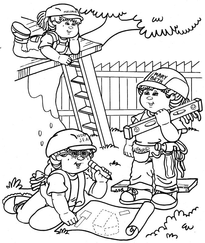 cabbage patch coloring pages - photo#33