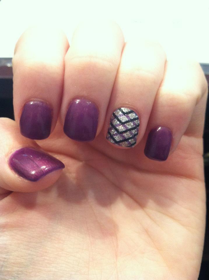 purple glitter nails #3152studio